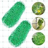15CM*15CM Red de Jardín AirSMall 2PCS Malla para Plantas Trepadoras, Red de Enrejado de Nylon para Plantas Trepadoras/Escalada/Plantas/Valla de Cultivo/Decoración (1.7M*4M)