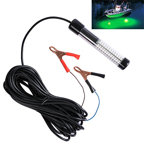 Goture 12V 10.8w 180 LEDs Submersible Fishing Light with 12m/ 13.12yd Cord - White, Blue, Green (Green with 13.12yd Cord)