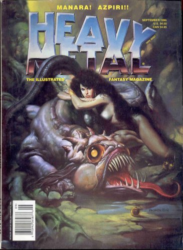 Heavy Metal Magazine the Illustrated Fantasy Magazine September 1996