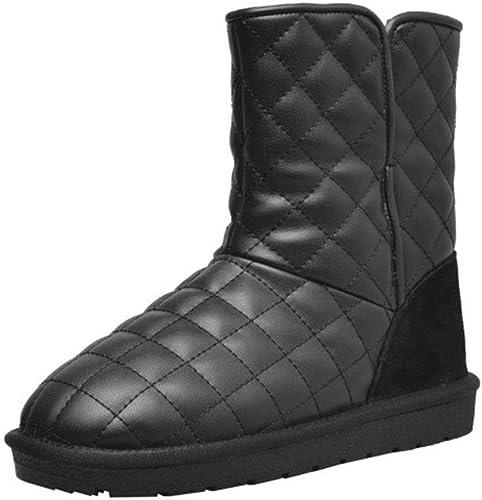 HRN Stiefel de Nieve para damen, Suaves y cálidas, cálidas y cálidas, Hausschuhe de algodón Forradas en los pies, otoño e Invierno nuevos,schwarz,34EU