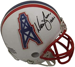 Autographed Warren Moon Mini Helmet - HOF 12477 - JSA Certified - Autographed NFL Mini Helmets