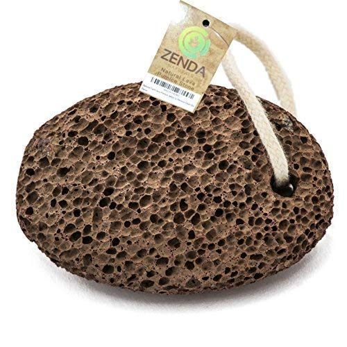 Natural Earth Lava Pumice Stone for Foot Callus by Zenda Naturals - Premium Callus Remover for...