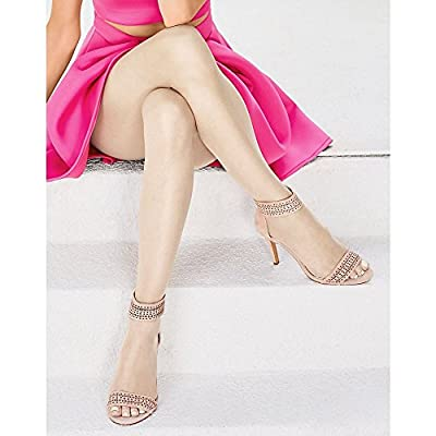 Hanes Silk Reflections Women's Lasting Sheer Control Top Toeless Pantyhose, Natural, C/D