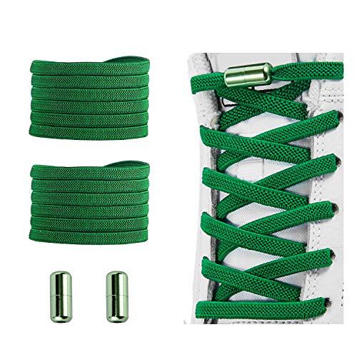 No Tie Shoelaces , Elastic Shoelaces for Adults/Kids,Elastic No Tie Shoe Laces Green