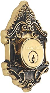 Nostalgic Warehouse Victorian Single Cylinder Deadbolt, Antique Brass