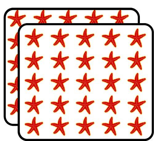 Red Starfish Sticker for Scrapbooking, Calendars, Arts, Kids DIY Crafts, Album, Bullet Journals 50 Pack