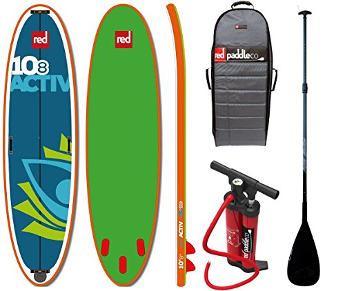 Red Paddle Set 10.8' ACTIV SUP inflatable Stand Up Paddle Surfboard Board...