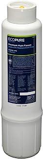 EcoPure EPWPRF Premium Main Faucet Drinking Water Replacement Filter, White