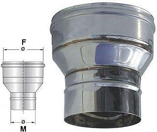12//10 MARRONE RIDUZIONI X TUBI DI STUFA GR in acciaio verniciato