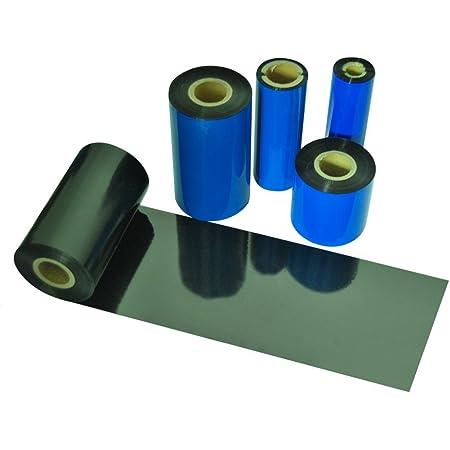 "Beyond Barcode Thermal Transfer Ribbon TTR Resin Enhanced Wax Ribbon Compatible for Zebra Printer 4.33"" X1476' (110mm X 450m) Black 1 Roll"