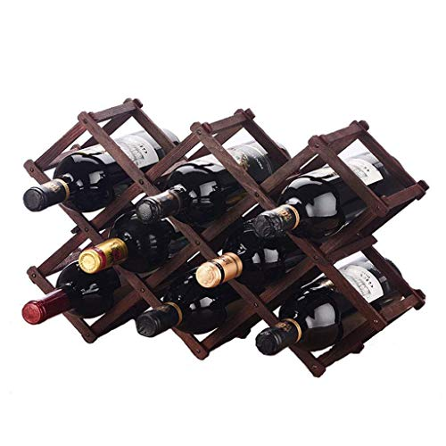 WYB Porte bouteille Casier à vin en bois massif Décoration en bois de pin Étagère créative Protection de l'environnement Casier à vin en bois Grande Décoration Maison Présentoir Cadre 10 Bouteilles Ét