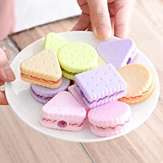 Meiyiu Cute Cookie Shape Pencil Sharpener for Home Classroom Office Kids Students Stationery