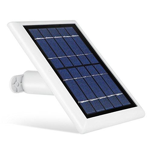 Wasserstein Solarpanel kompatibel mit Ring Spotlight Cam Akku und Ring Stick Up Cam Akku HD – kontinuierliche Stromversorgung Ihrer Ringkamera mit unserem Solar-Ladegerät (weiß, 1er Pack)