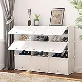 PREMAG Portable Schuhablage Organizer Tower, weiß, modulare Schrankregal für platzsparende, Schuhregal Regale für Schuhe, Stiefel, Hausschuhe 3 * 5