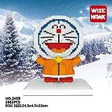 Zenghh Los aficionados ladrillos micro bloques de dibujos animados Doraemon Juguetes Nano-Mini Diamond Set Clank Cat Blue Kit 3D Puzzle Asamblea Modelo de la manera DIY Crafts Decoración regalo for lo
