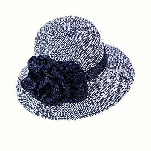 Yi-xir diseño de Moda Verano de Mujer Nuevo algodón y Ropa de Cama con Sombrero de Sol Protector Solar Pescador Sombrero combinación (Color : 01)