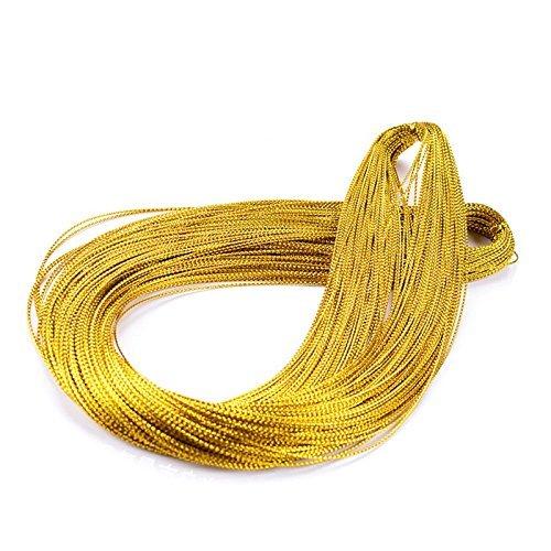 Cuerda de oro navideña, color dorado