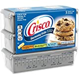 Crisco, Baking Sticks, Original, All Vegetable Shortening, 20oz Package (3 one cup sticks)