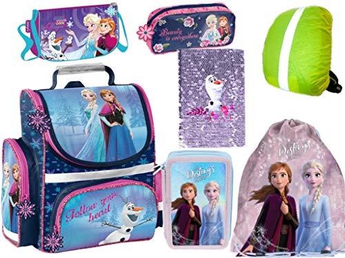 Frozen Anna Elsa Olaf School Bag Set Satchel School Bag Set Satchel School Bag Filled Gym Bag Notebook Pen Bag Children's Bag Rain Cover 7 Pieces Frozen Set