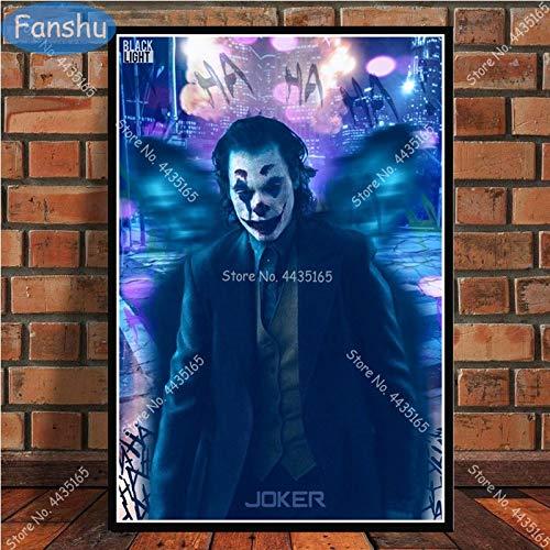 PSpXU Kunstplakat Joker Joaquin Phoenix s Plakate und Drucke Wandkunst Dekoration Leinwand Malerei Kinderzimmer Home Art Dekor-Rahmenlos-60X75cm