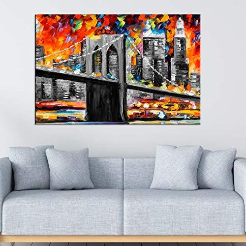 Tela Decorativa Pintura Ponte