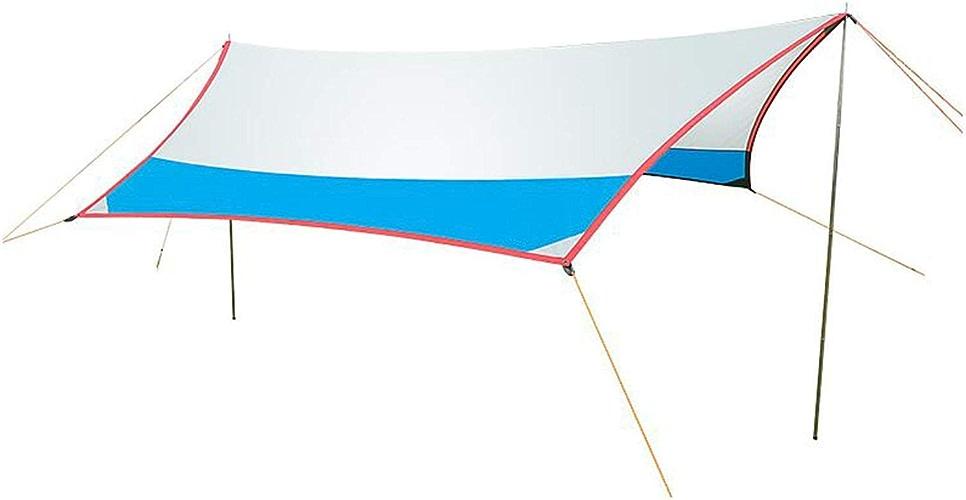 XGHW Portable léger Tente de Camping bache abri Tapis Couverture de hamac imperméable Soleil Ombre équipement de Camping Essentiel des équipements de Survie enjeux comprennent avec Sac de Transport