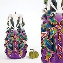 Christmas Carved Pillar Candles - Birthday Cool Best Gift Boyfriend Grandma 40th 50th - EveCandles