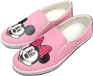 FUNKY N TRENDY Pink Waterproof Mickey Minnie Canvas Casual Shoes