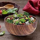 Cuenco de comedor grueso redondo plato de madera natural de 18 cm para hotel para comida