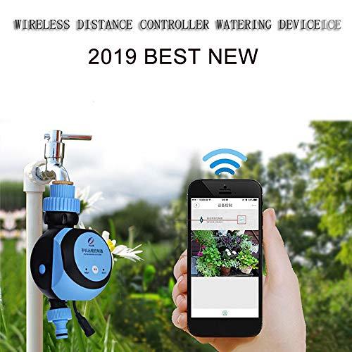 Xyfw Smartphone Fernbedienung Gartenbewässerungssystem Double Outlet Elektronische Wasserzähler, Intelligente Automatische Elektronische Wasserzähler Bewässerung Timer