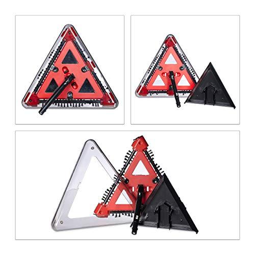 Relaxdays Akkusauger beutellos, Dreieck-Akkubesen kabellos mit rotierenden Bürsten, Kehrbesen elektrisch 115x34 cm, rot - 6