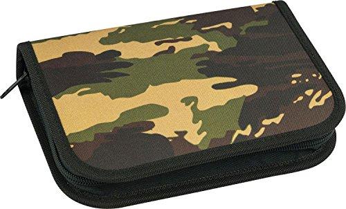 Eberhard Faber 577533 - Schüleretui Camouflage, 32-teilig befüllt, farblich sortiert (grün/blau camouflage)