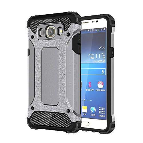 J&H - Funda protectora para Samsung Galaxy J5 (2016), diseño de armadura, funda rígida y resistente, híbrida de doble capa a prueba de golpes para Samsung Galaxy J5 (2016) [Duos]
