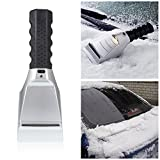 Heated Auto Electric Windshield Ice Scraper W/Flashlight Snow Melter Removal Car