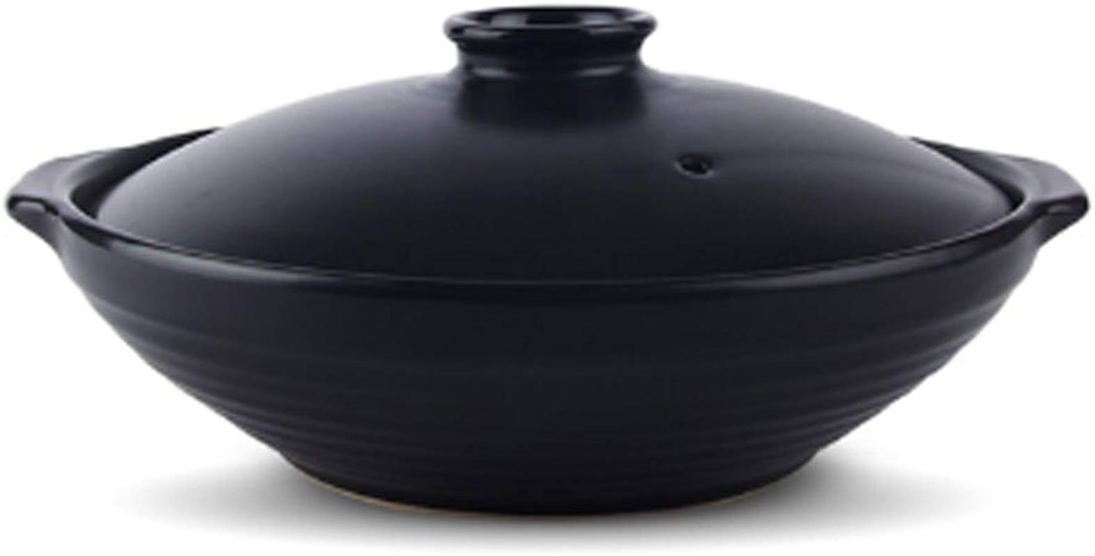 Black 1 25 Quarts Ceramic Stew Soup Hot Pot With Lid Japanes Donabe Hot Pot Stockpot Cookware For Multipurpose Use