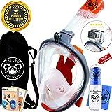 Fitcro Premium Tauchermaske, Orange/Grey, L-XL
