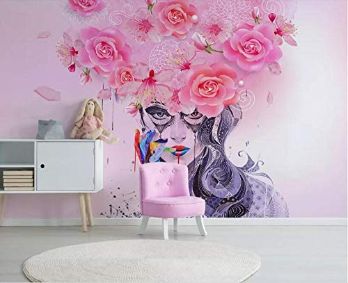 ZAMLE Custom large 3d wallpaper Modern Graffiti floral colorful sexy beauty oil painting background wall wallpaper 3d tapeta, 250x175 cm (98.4 by 68.9 in)