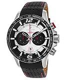 Lancaster Italia ola1063l-ss-bn-nr de los hombres Hurricane Chronograph auténtico piel negro Silver-tone Dial Watch
