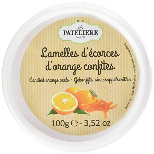 LA PATELIERE Lamelles d'Écorces d'Oranges Confites 100 g - Lot de 6