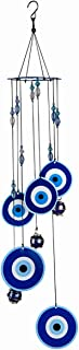 JOXJOZ Metal Memoria Wind Chimes Indoor Outdoor Decor with S Hook-Tree of Life and Evil Eye Sympathy Wind Chimes Gifts for...