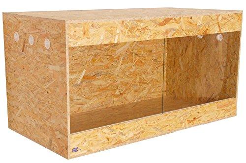 Happy-Echse OSB Terrarium, Holz Terrarium, Terrarium, Seitenbelüftung, 120 x 60 x 60