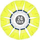 Sumind 24 Piezas Volantes de Bádminton de Nylon Bádminton de Alta Velocidad de Colores Brillantes Bolas de Bádminton de Entrenamiento Deportivo de Pajaritos para Deportes al Aire Libre Interiores