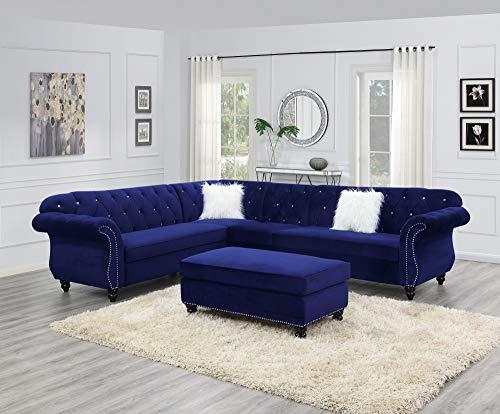 Esofastore Contemporary Modern Living Room Furniture 4pc Sectional Sofa Set...