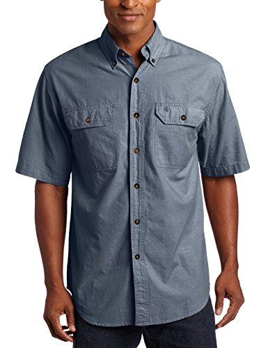 Carhartt Fort Solid Kurzarm Hemd, Denim Blue Chambray, L