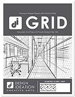 Design Ideation Brand Grid Paper : 鉛筆、インク、マーカー、水彩画用マルチメディアグリッド用紙 水平アイソメトリックグリッド(25枚パック)(グレーグリッド)