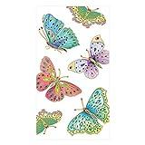 Caspari Jeweled Butterflies Paper Guest Towel Napkins in Pearl - 15 Per Package