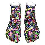 Feuchtigkeitstransport Low Cut Socken Casual Sport Knöchel Socken Damen Herren Hawaii Gartenzwerge Design Crew Socken