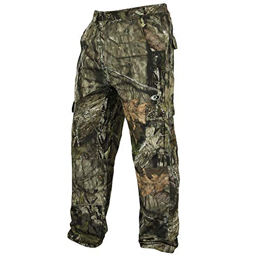 Mossy Oak Camo Lightweight Hunting Pants for Men Camouflage Clothing, Large, Break-Up Country