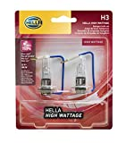 HELLA H3 100WTB Twin Blister High Wattage Bulbs, 12V, 2...