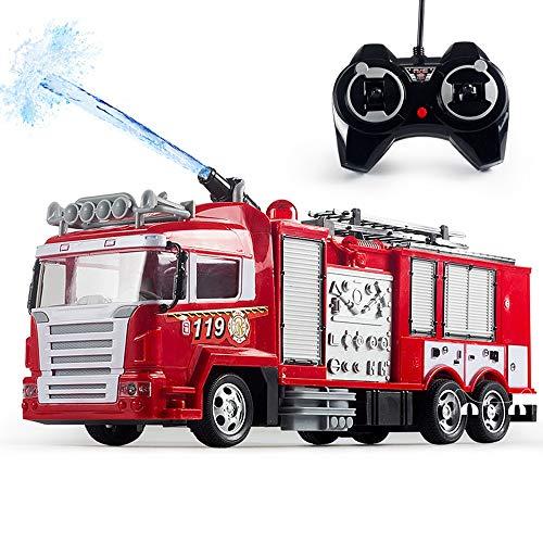 Lotees Niños Rc coche de bomberos remoto de control de agua de...